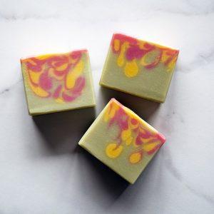 cactus flower goat milk soap